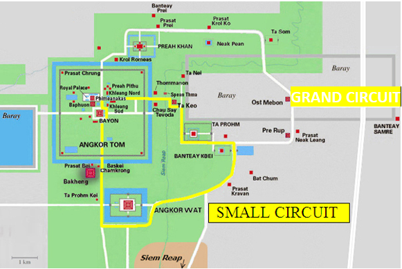 MAP OF ANGKOR